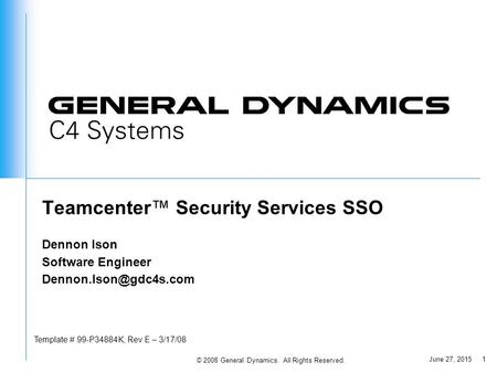 Teamcenter™ Security Services SSO