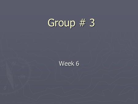 Group # 3 Week 6. Progress so far ► Choice of platform and technology ► Start coding for GUI.