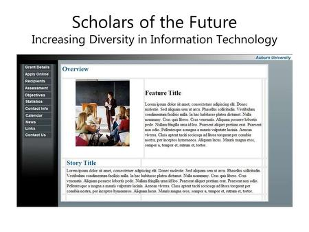 Scholars of the Future Increasing Diversity in Information Technology.