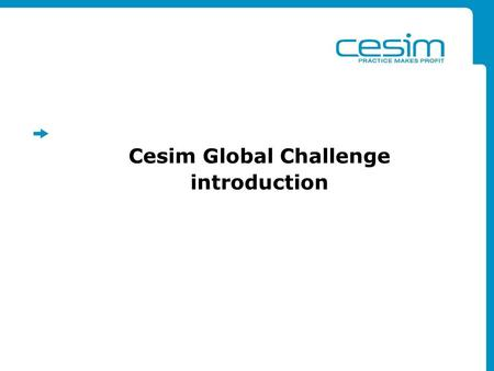 Cesim Global Challenge introduction