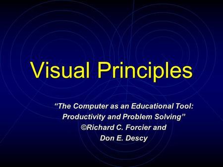 Visual Problem Solving