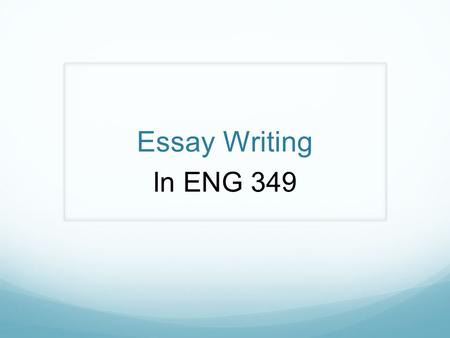 Essay Writing In ENG 349. Your Essay Assignment Chose a topic from our readings in the Hayhoe book that interests you and that you want to learn more.