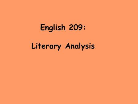 English 209: Literary Analysis. Finding criticism or interpretations of an author's work 1.Search by Subject in Keene-Link for Flaubert. 2. Use MLA International.