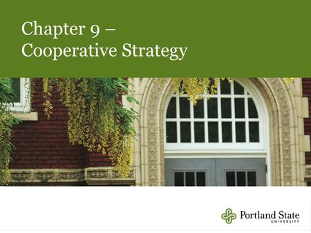Chapter 9 – Cooperative Strategy