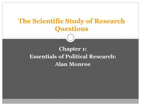 The Scientific Study of Research Questions
