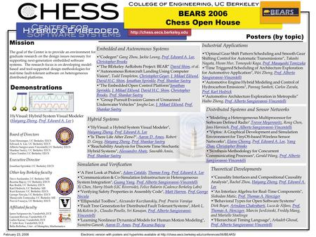 February 23, 2006Electronic version with posters and hyperlinks available at  Board of Directors Tom.
