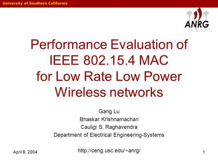 Performance Evaluation of IEEE