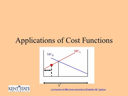 Lectures in Microeconomics-Charles W. Upton Applications of Cost Functions.