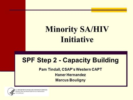 Minority SA/HIV Initiative