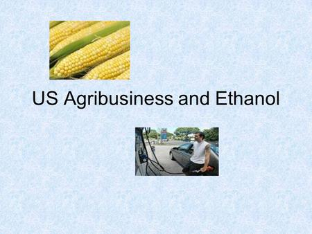 US Agribusiness and Ethanol. Current structure of American Agriculture Food production, farm credit, processing and distribution are controlled by a small.