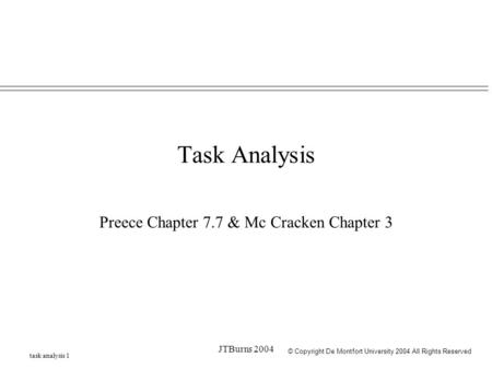 Preece Chapter 7.7 & Mc Cracken Chapter 3