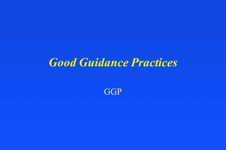 Good Guidance Practices GGP. Development, Issuance, and Use of Guidance Documents nCitizen petition from the Indiana Medical Devices Manufacturers Council.