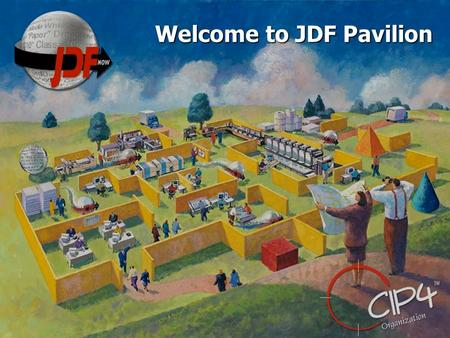 Welcome to JDF Pavilion. Imposition and JDF Andre Valentine Ultimate Technographics Inc. Director, Product Marketing.