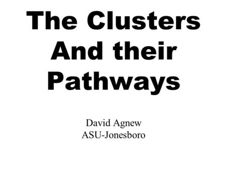 The Clusters And their Pathways