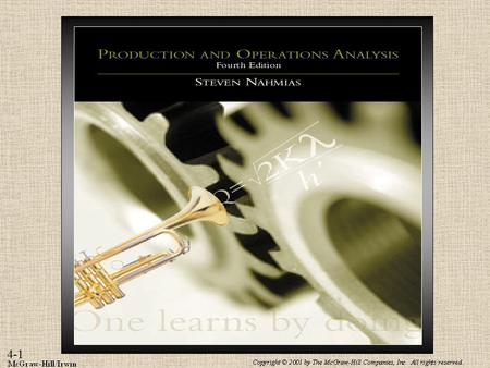 Inventory Control Subject to Known Demand