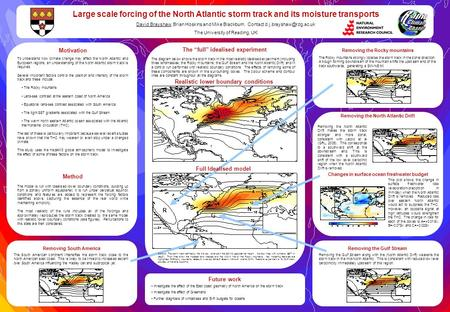 Motivation To understand how climate change may affect the North Atlantic and European regions, an understanding of the North Atlantic storm track is required.