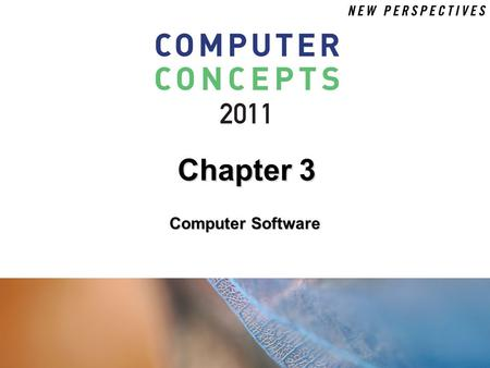 Chapter 3 Computer Software.