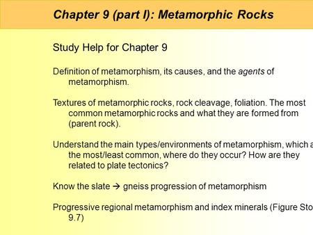 Metamorphic Rocks. - ppt video online download