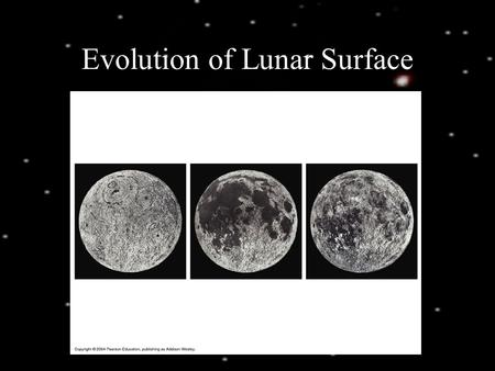 Evolution of Lunar Surface. Lunar Erosion Surface of Mercury.
