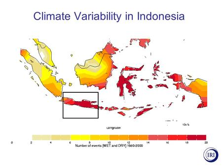 Climate Variability in Indonesia. Paddy Area Damaged, Indonesia El Niño onset years.