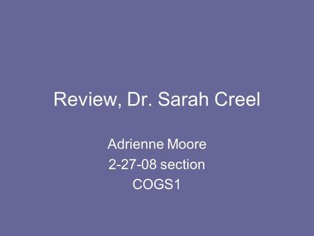 Adrienne Moore section COGS1