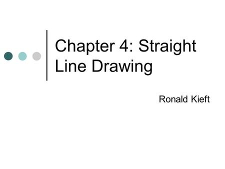 Chapter 4: Straight Line Drawing Ronald Kieft. Contents Introduction Algorithm 1: Shift Method Algorithm 2: Realizer Method Other parts of chapter 4 Questions?