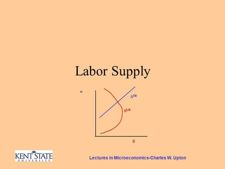 Lectures in Microeconomics-Charles W. Upton Labor Supply.