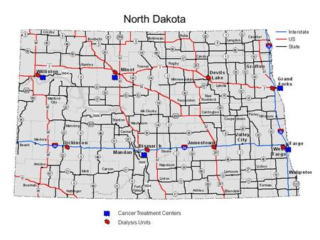 North Dakota Cancer Treatment Centers Dialysis Units.