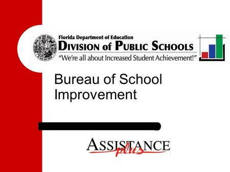 Bureau of School Improvement. It is Possible! It happened here: The Florida Story... Closing The Achievement Gap No Excuses.