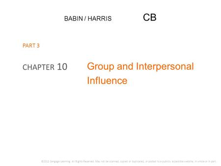 Group and Interpersonal Influence