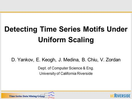 Detecting Time Series Motifs Under
