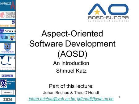 aspect oriented software development