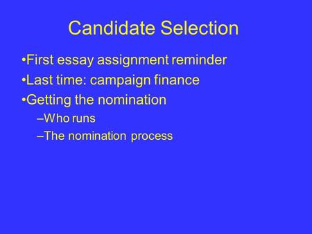 the 2003 election campaign essay Citizens united v federal election federal election commission (2003) this example citizens united v federal election commission essay is published for.
