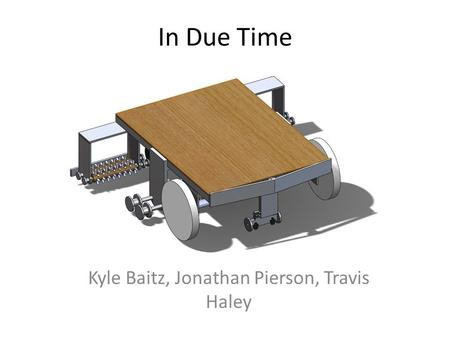 In Due Time Kyle Baitz, Jonathan Pierson, Travis Haley.