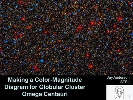 Making a Color-Magnitude Diagram for Globular Cluster Omega Centauri Jay Anderson, STScI 1.
