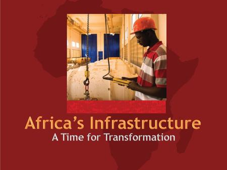 For more information visit: www.infrastructureafrica.org.