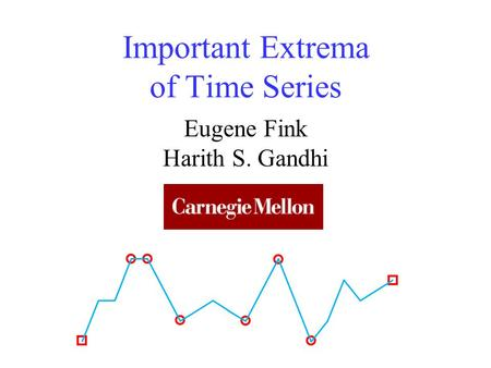Important Extrema of Time Series Eugene Fink Harith S. Gandhi.