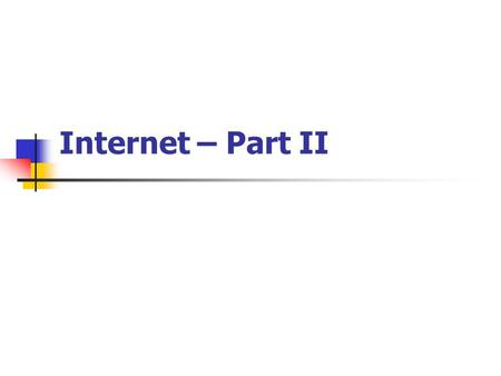 Internet – Part II. What is the World Wide Web? The World Wide Web is a collection of host machines, which deliver documents, graphics and multi-media.