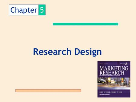 Chapter 5 Research Design.
