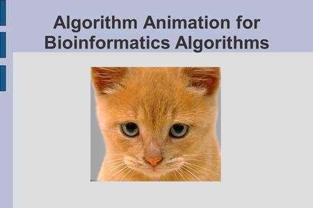Algorithm Animation for Bioinformatics Algorithms.