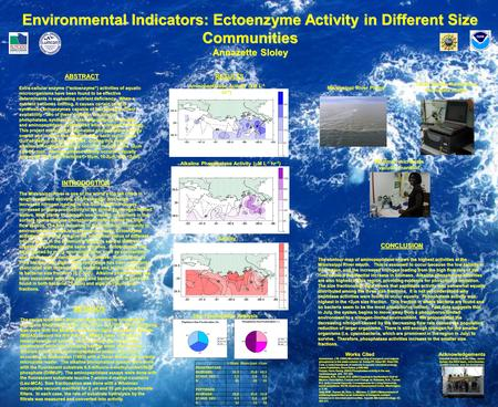 "Environmental Indicators: Ectoenzyme Activity in Different Size Communities Annazette Sloley ABSTRACT Extra-cellular enzyme (""ectoenzyme"") activities of."