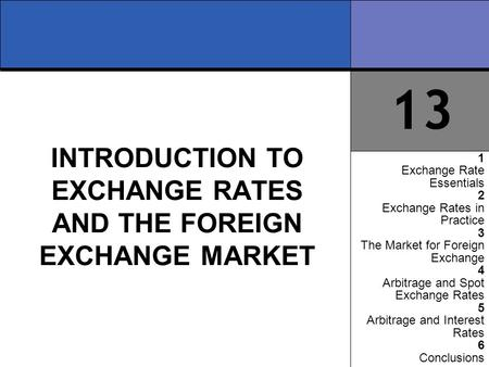 an introduction to the exchange rates and international trade The effect of exchange rate fluctuation on international trade in rwanda keywords: exchange rate fluctuation, international trade, vecm, rwanda i introduction.
