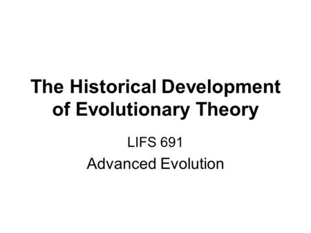 historical development of ecology