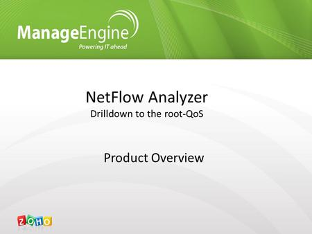 NetFlow Analyzer Drilldown to the root-QoS Product Overview.