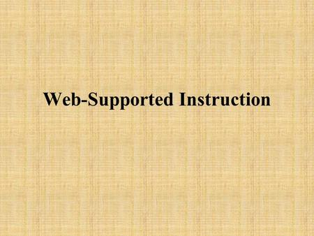 Web-Supported Instruction. Fun Web Sites  ve_of_magic/  (Can you figure out this trick?)