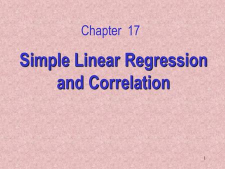 simple regression and correlation Regression line example second we got to a formula for the slope and y-intercept of the best fitting regression line when you measure the error by the.