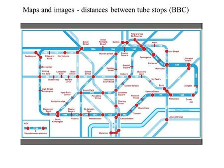Maps and images - distances between tube stops (BBC)