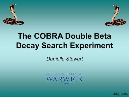 The COBRA Double Beta Decay Search Experiment