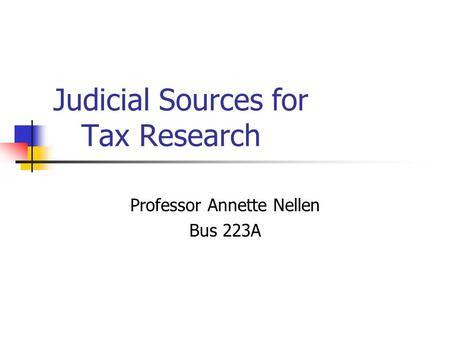tax research case