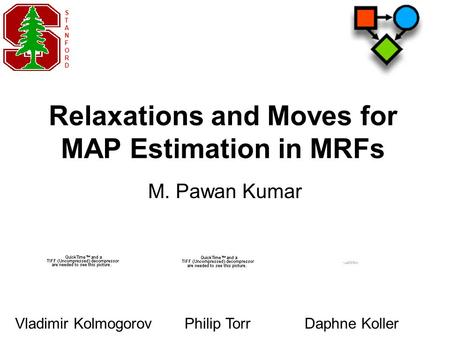 Relaxations and Moves for MAP Estimation in MRFs M. Pawan Kumar STANFORDSTANFORD Vladimir KolmogorovPhilip TorrDaphne Koller.
